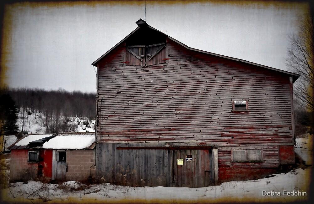 Red Barn in Winter  by Debra Fedchin