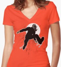 Leroy (Stealth Mode) Women's Fitted V-Neck T-Shirt