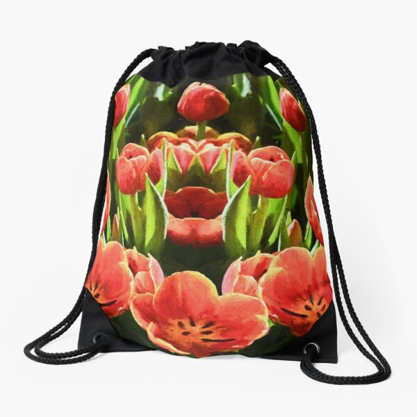 Tulips           (digital painting) Drawstring Bag