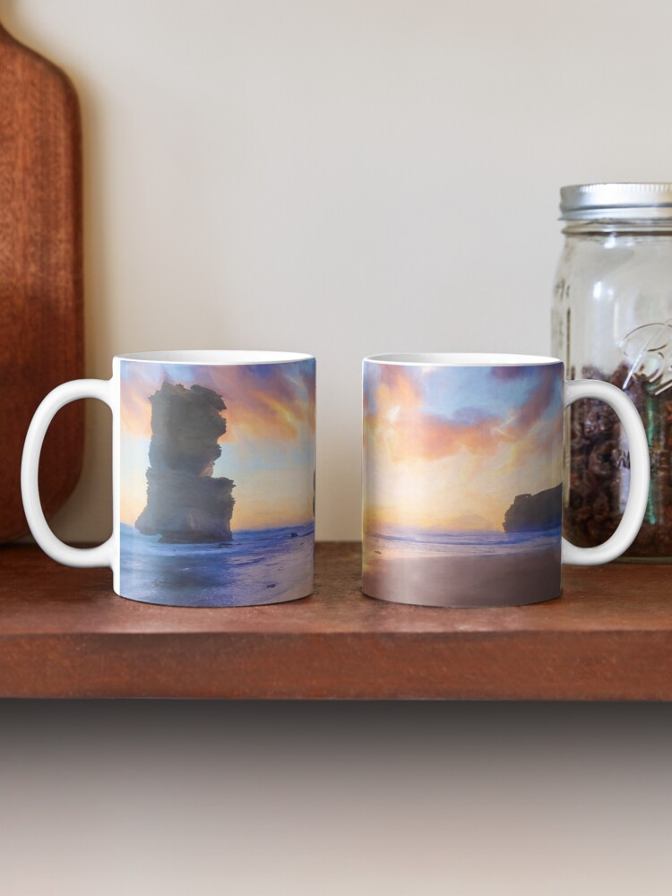 Alternate view of 12 Apostles with Marshmallow Skies  (digital painting) Mug
