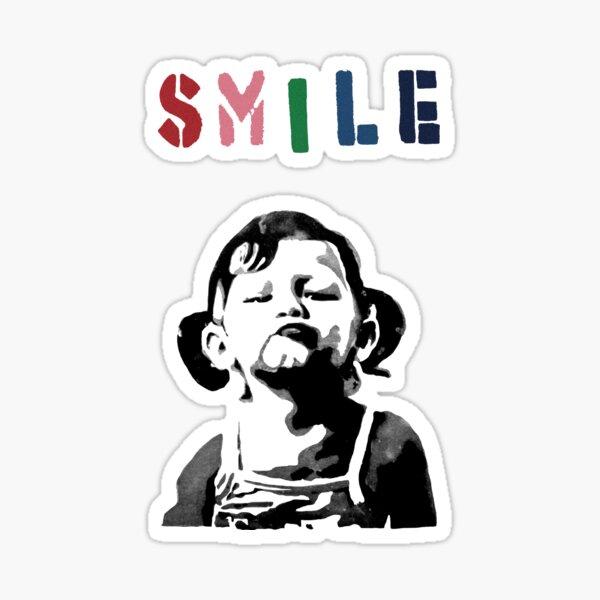 Banksy - Smile Sticker