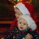 My boys celebrating christmas by Jessica Hooper