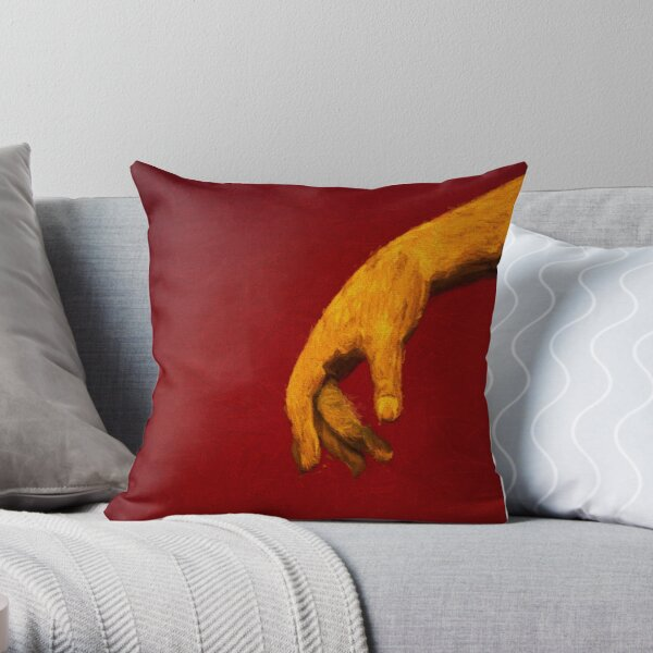 The Hand           (digital painting) Throw Pillow
