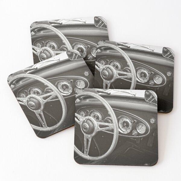 Austin Healey 3000 Classic Sports Car Interior Coasters (Set of 4)