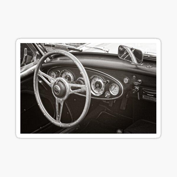 Austin Healey 3000 Classic Sports Car Interior Sticker