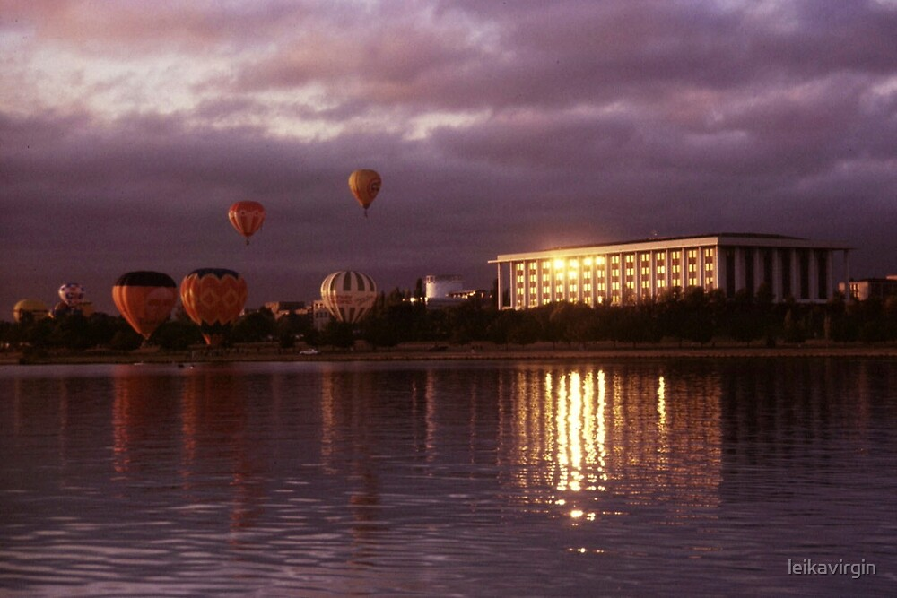 the National Library and the Balloons by leikavirgin