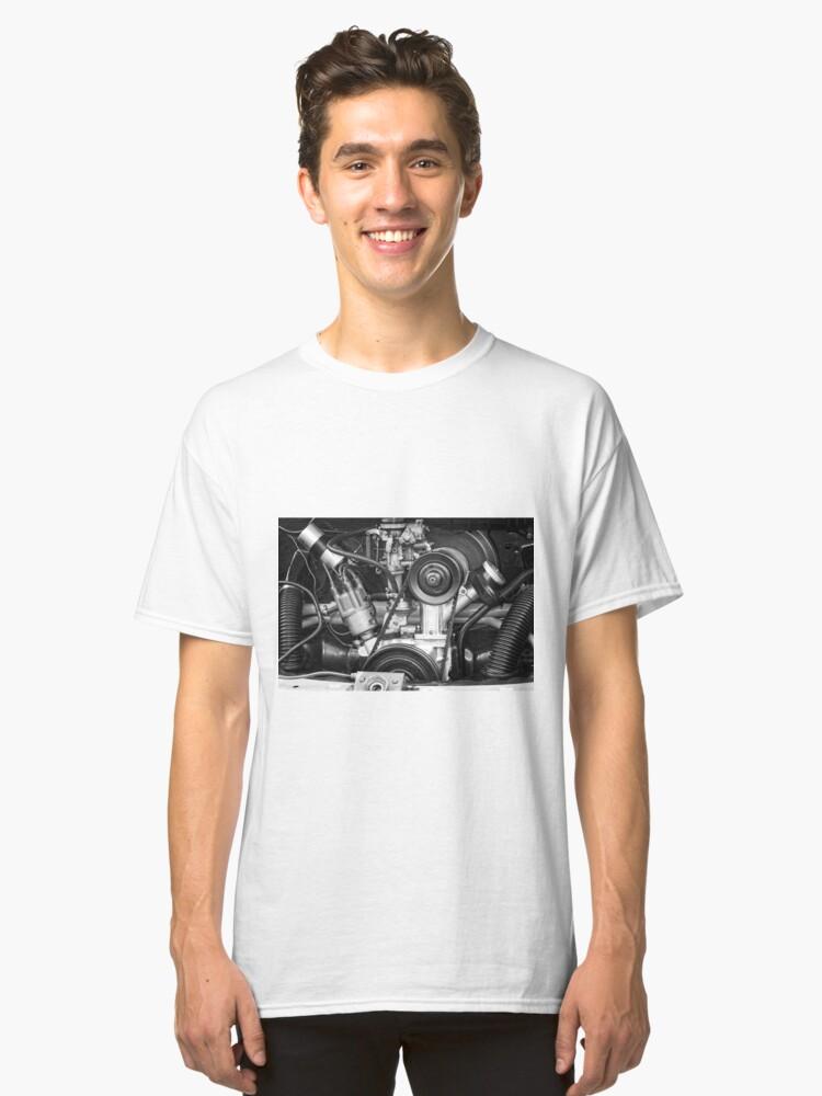 Alternate view of VW Karmann Ghia Aircooled Engine Classic T-Shirt