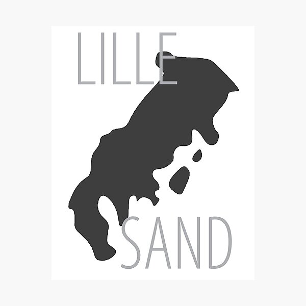 Mirra's mAps - Lillesand Photographic Print
