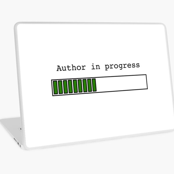 Author in Progress Laptop Skin