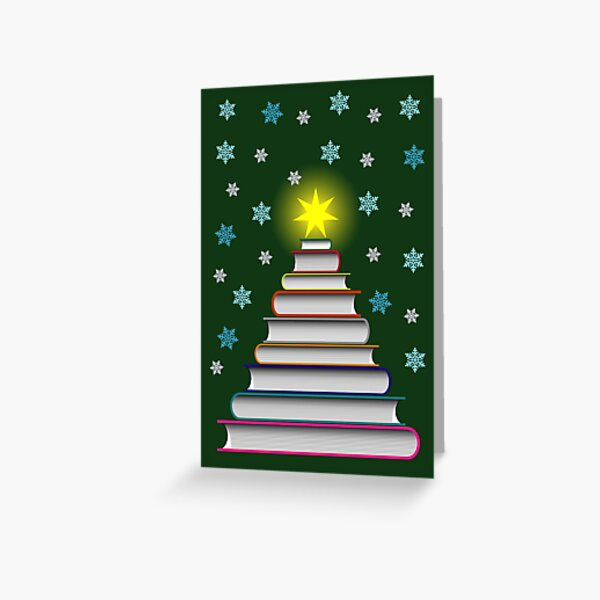 Bookworm's Christmas Card Greeting Card