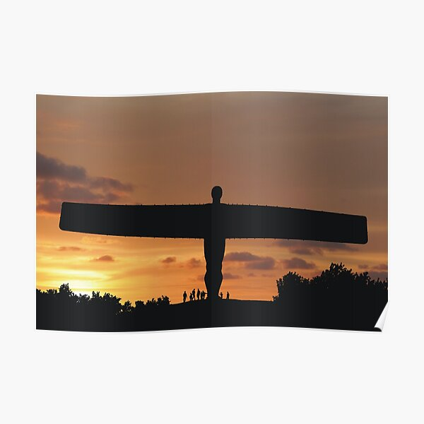 Angel at sunset Poster