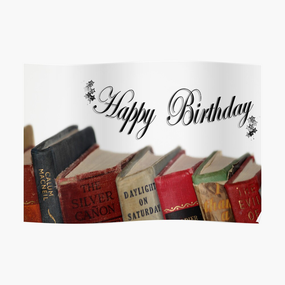 Carte De Vœux Joyeux Anniversaire Plus Vieux Carte Livres A L Ancienne Par Minnes Redbubble