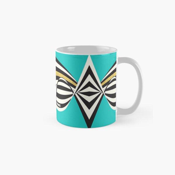 THINK! – Wavy Stripes on Luxury Blue Classic Mug