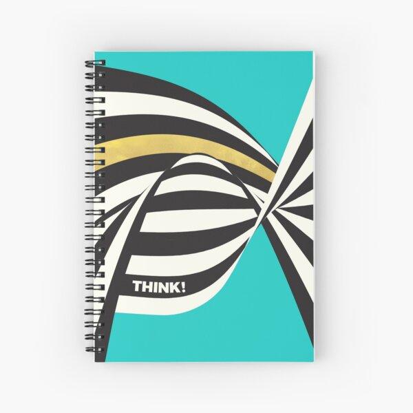 THINK! – Wavy Stripes on Luxury Blue Spiral Notebook