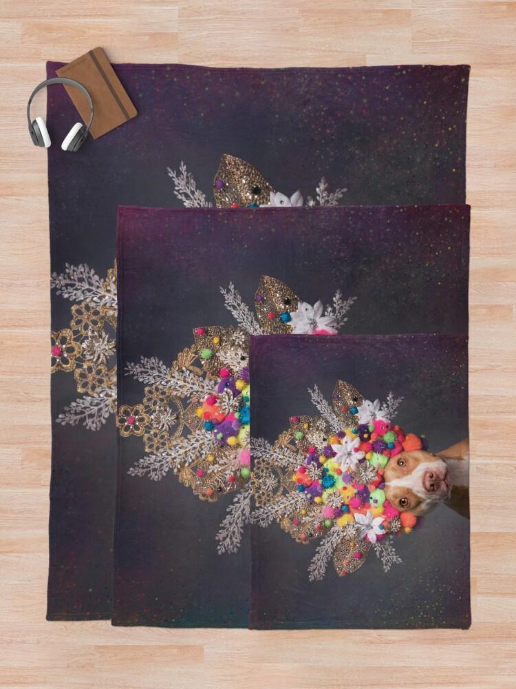 Alternate view of Pit Bull Flower Power, Frida Throw Blanket