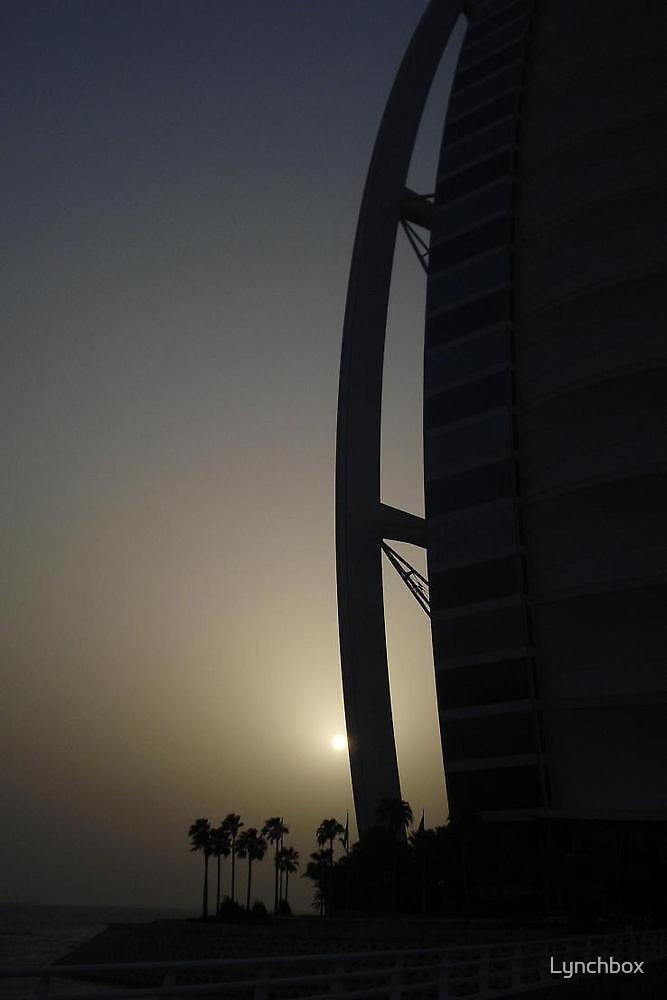 Burj sunset by Lynchbox