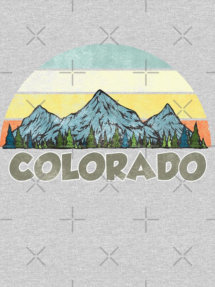 Vintage Colorado Rocky Mountains Retro Sunset by kiwi91