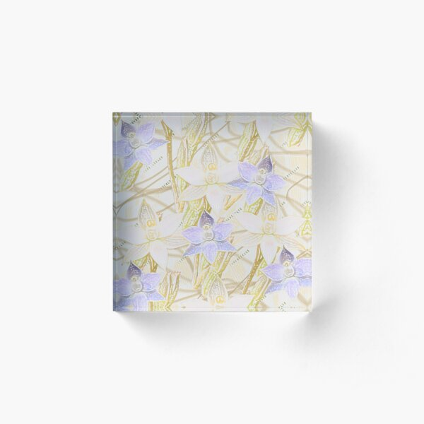 Sun Orchids Acrylic Block