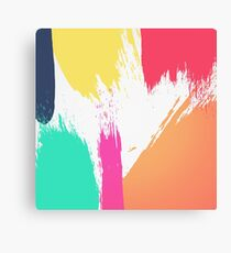 Multi-Colored Paint Brushstrokes  Canvas Print