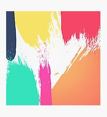 Multi-Colored Paint Brushstrokes  Photographic Print