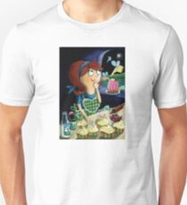 Little Girl's Kitchen and cute flying monsters Unisex T-Shirt