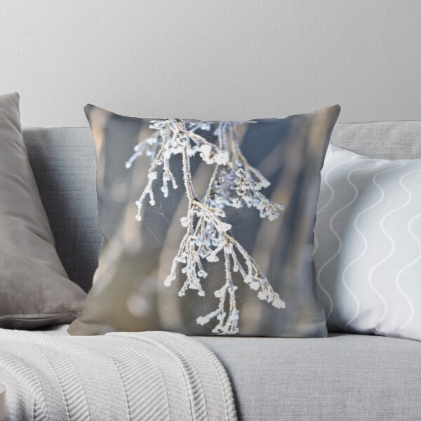 frosted nature Throw Pillow