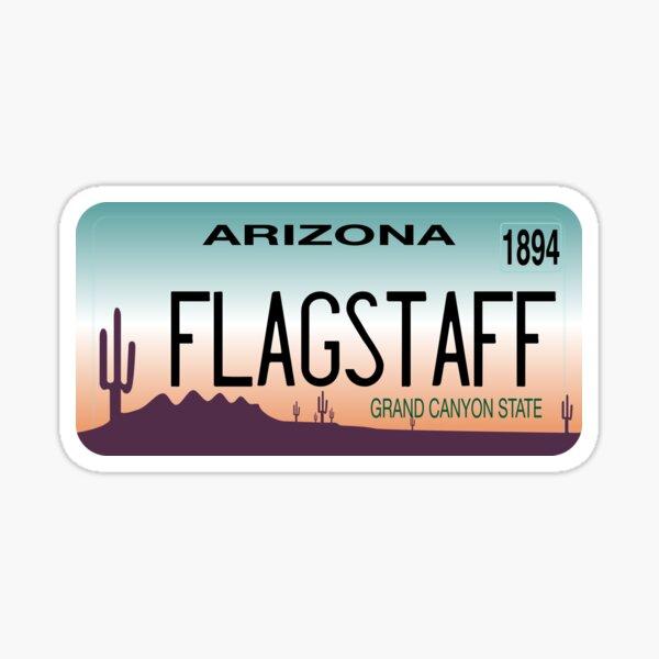 Flagstaff, Arizona License Plate Sticker