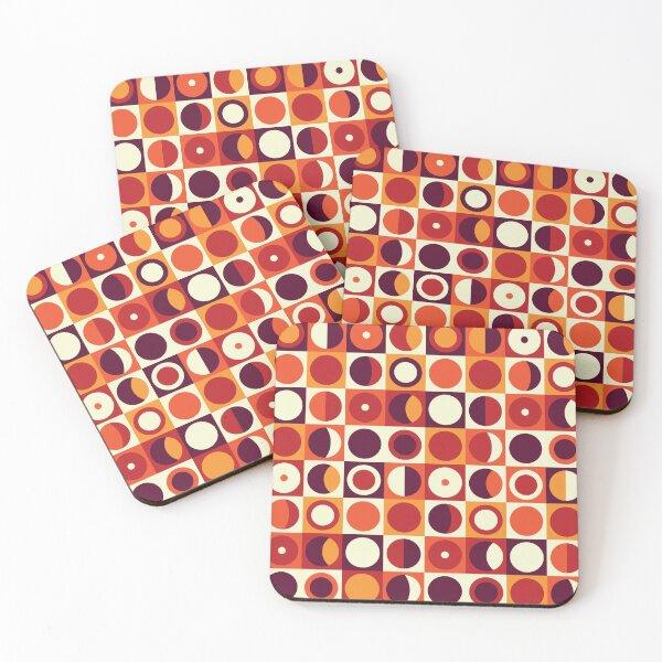 Orangy 70s pattern Coasters (Set of 4)