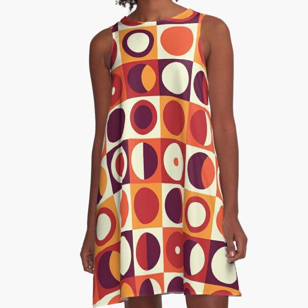 Orangy 70s pattern A-Line Dress