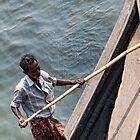 The boatman & the pole by vesa50