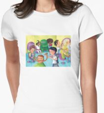 Hair Beauty Saloon Womens Fitted T-Shirt