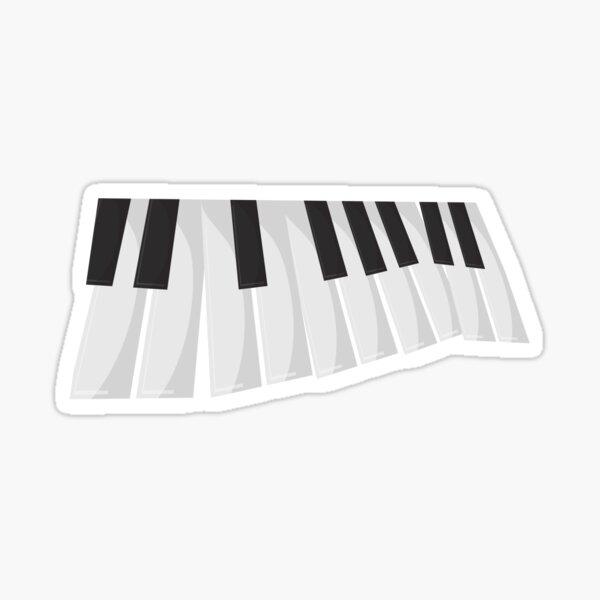 A Piano perspective Sticker