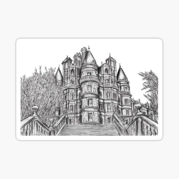 Royal Holloway University of London Illustration Sticker