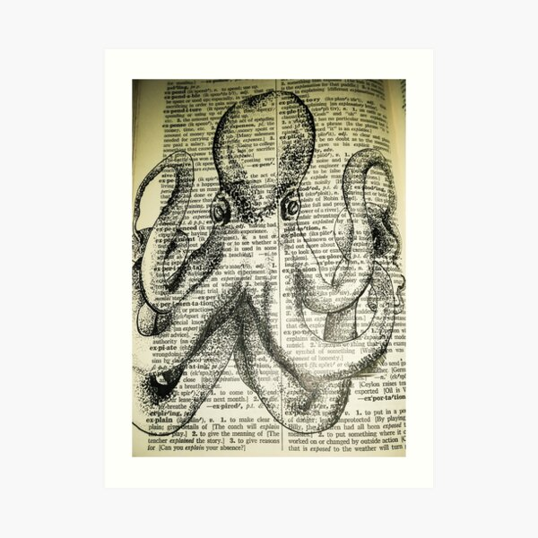 Ink Octopus Art Print