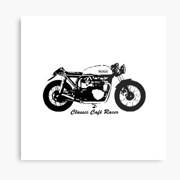 BIKERS AND CAFE RACER MOTOR CYCLES GIFTS  Metal Print