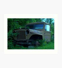 old jeep Art Print