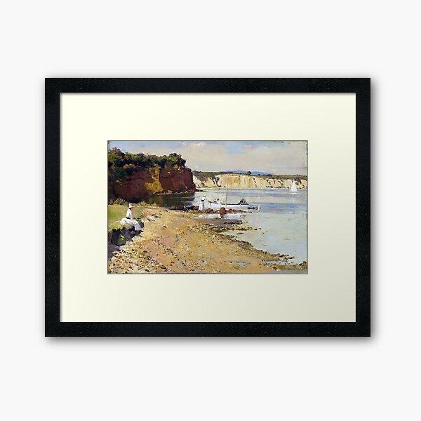 Tom Roberts Slumbering Sea, Mentone Framed Art Print