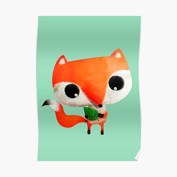 Cute Little Fox Poster