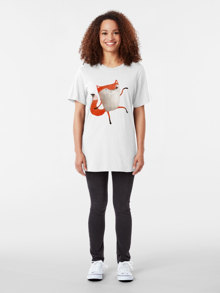 Alternate view of Happy Dancing Fox Slim Fit T-Shirt