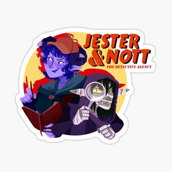 Jester & Nott - The Detective Agency Sticker