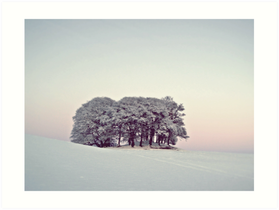 Pastels In The Scottish Snow. by Aj Finan
