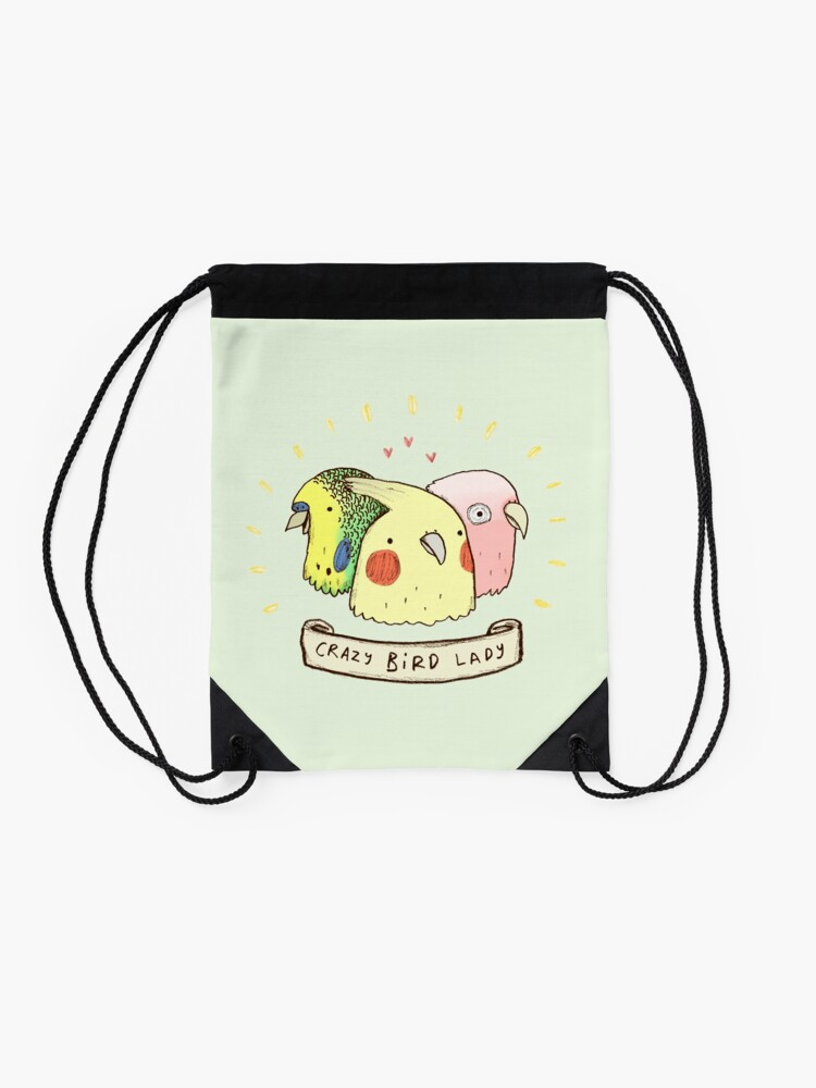 Vista alternativa de Mochila saco Crazy Bird Lady