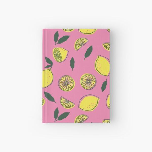 Pink Lemonade Pattern Hardcover Journal