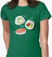 Cute Sushi Rolls Women's Fitted T-Shirt