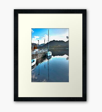 Down by the Dock Framed Print