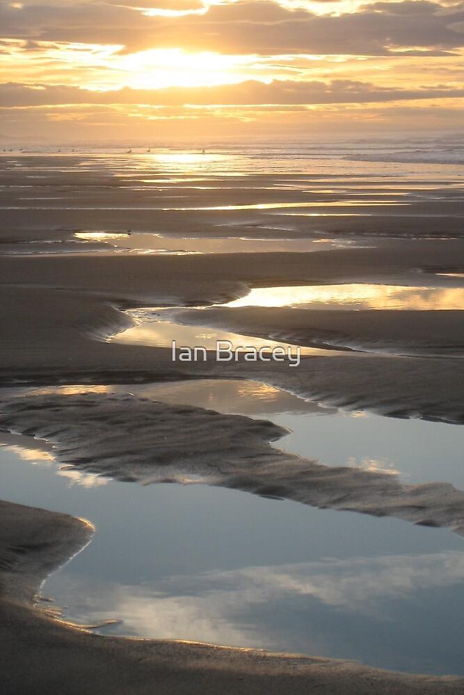 Beach Puddles, Bamburgh by Ian Bracey