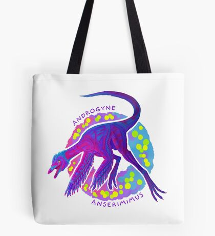 Androgyne Anserimimus (with text)  Tote Bag