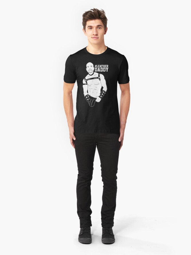 Alternate view of HASHTAG BOYZ - Leather Daddy - INVERT Slim Fit T-Shirt