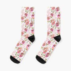 c'est la fucking vie pink floral  Socks