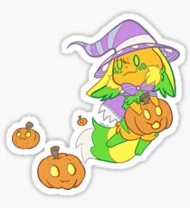 Pumpkin Uluri Witch Sticker